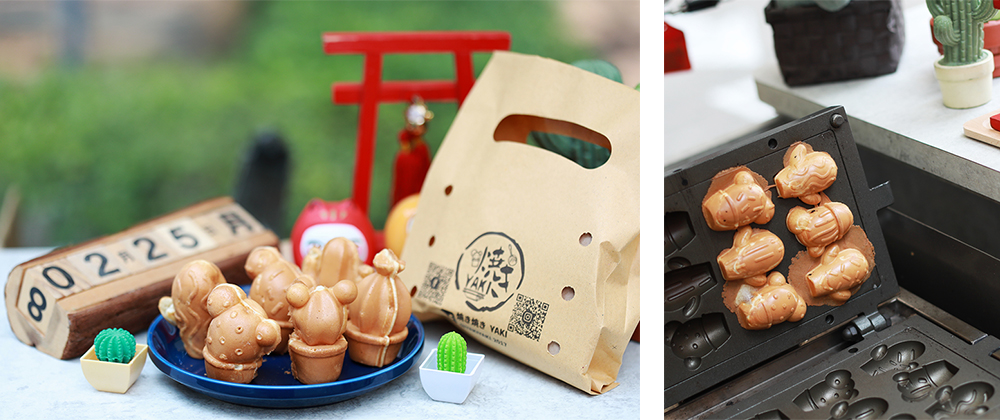 仙人掌造型的雞蛋糕,是老闆Bonny自己設計開模,口味多元有創意。(攝影/林韋言)