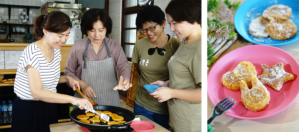 參加「惡地農夫工作室」的手作地瓜餅活動,用味蕾寫下田寮印象。(攝影/曾信耀)