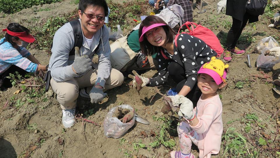 走進河床台地拔地瓜,體驗農夫豐收的快樂。(照片提供/惡地農夫)