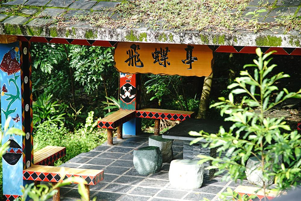 茂林生態公園廣場步道沿途設置飛蝶亭、紫蝶亭、瑪雅亭,賞蝶途中不妨好好安靜守候。(攝影/曾信耀)