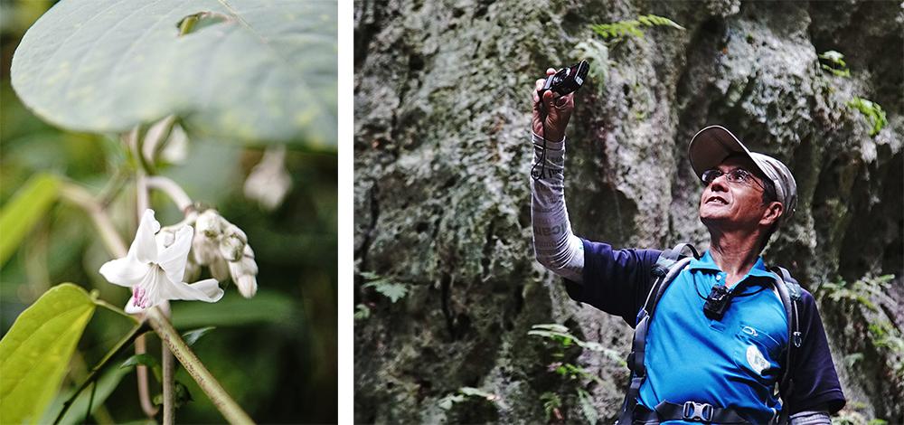 數位相機記錄工作狀態,也隨時隨地記錄山上的自然生態和設備狀況。(攝影/曾信耀)