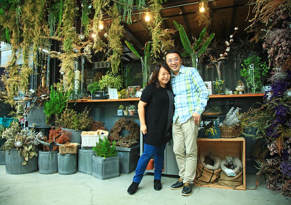 許登栗夫妻是Danny's flower花藝實驗藝廊的靈魂,也是一對充滿愛的夫妻