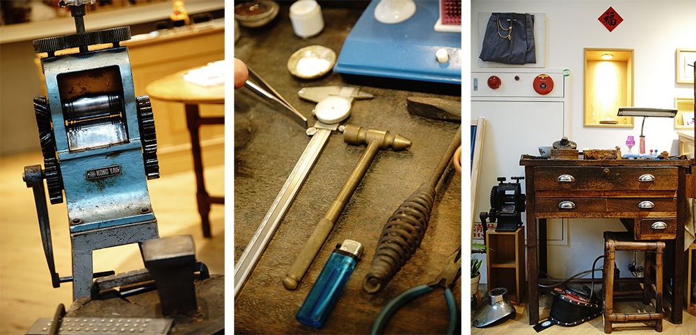 為了留下傳承的意義,洪清發師傅工具桌也成為鎮店之寶。(攝影/曾信耀)