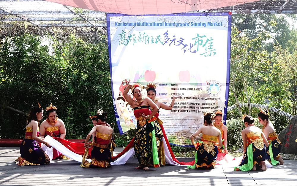 新住民帶來華麗的泰國舞蹈表演。(攝影/曾信耀)