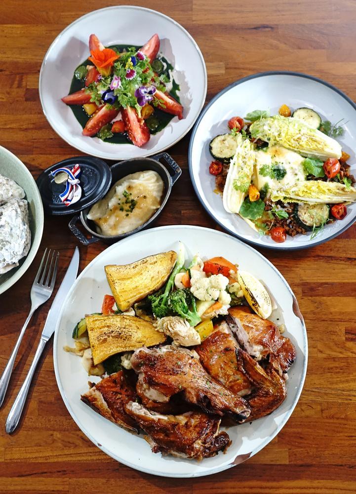 挑食從前菜、主餐到甜點,不斷地以在地食材演繹台魂法菜。(攝影/曾信耀)