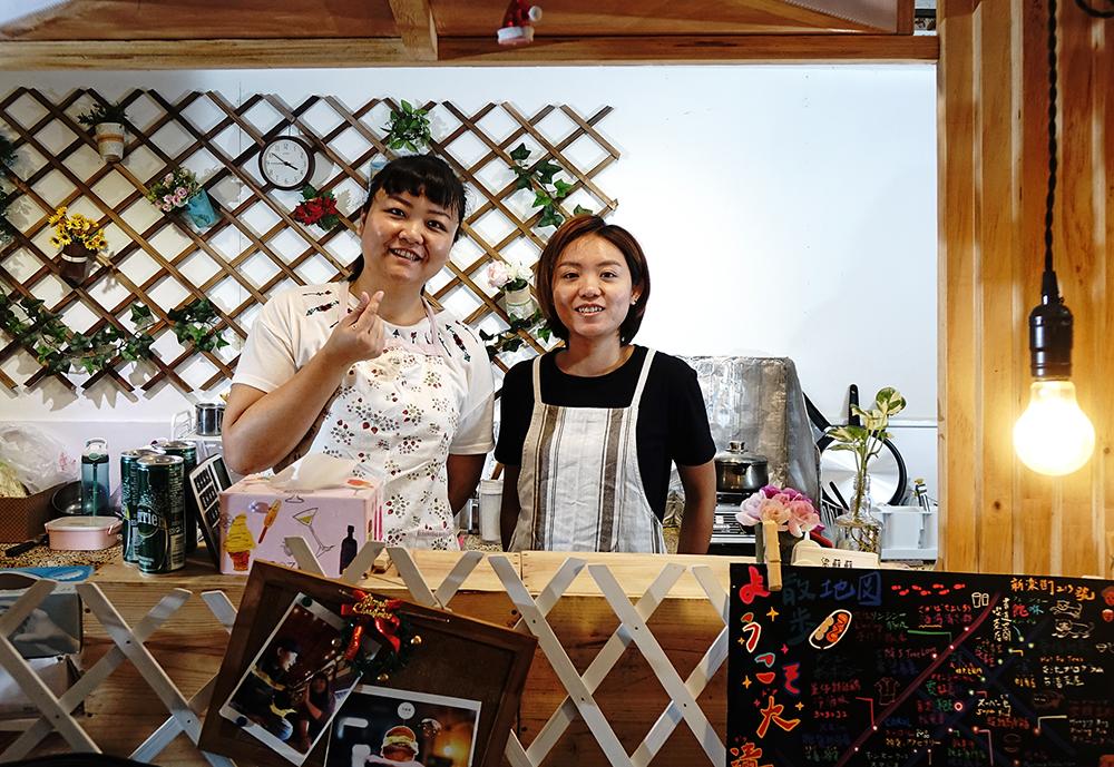 蘇鈺珽、梁彣怡原本是旅行社同事,兩人有志一同想要創業圓夢。(攝影/曾信耀)