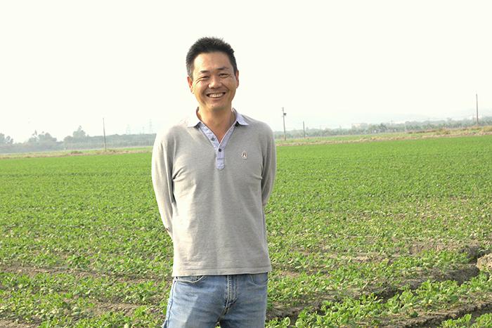 甫獲得農業界「奧斯卡」之稱的神農獎得主侯兆百。