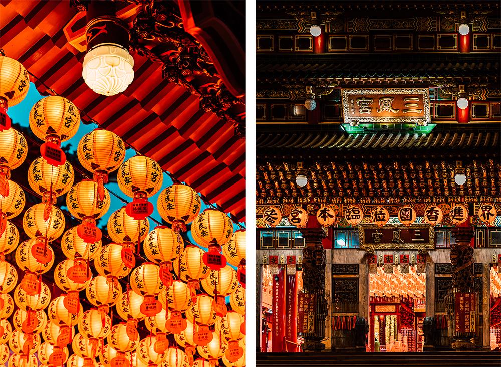 高雄三鳳宮每年春節的燈籠海,宛如另類燈會。(攝影/陳建豪)