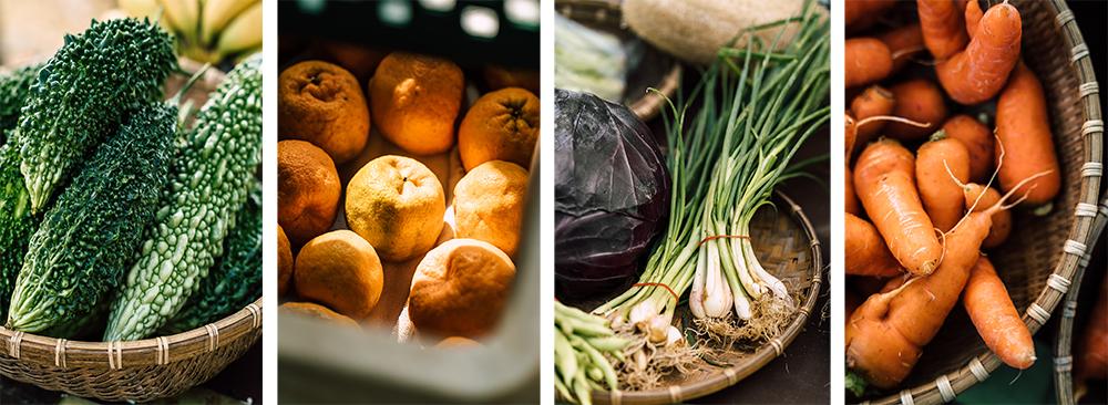 微風市集提供鮮採、產地直送、在地尚青蔬果。(攝影/陳建豪)