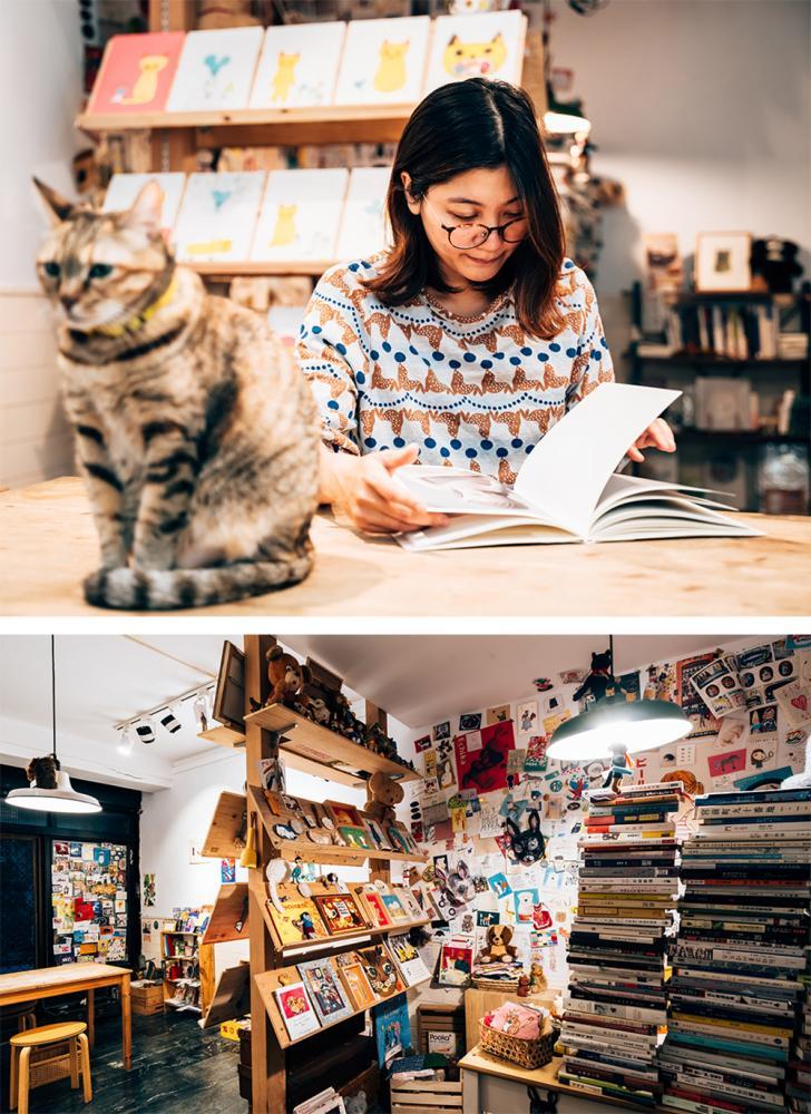 Kite說:「架上的書籍不是我希望你買,而是因為我覺得它很美好,如果你也覺得美好,那麼我就很高興了。」(攝影/陳建豪)