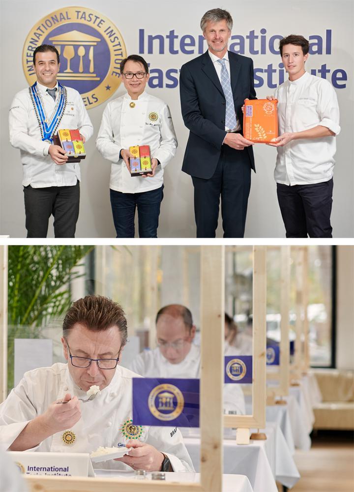 2021年比利時《國際風味暨品質評鑑》中,高雄147號米經過盲測評選,榮獲3星榮譽。(圖片提供/美濃區農會)