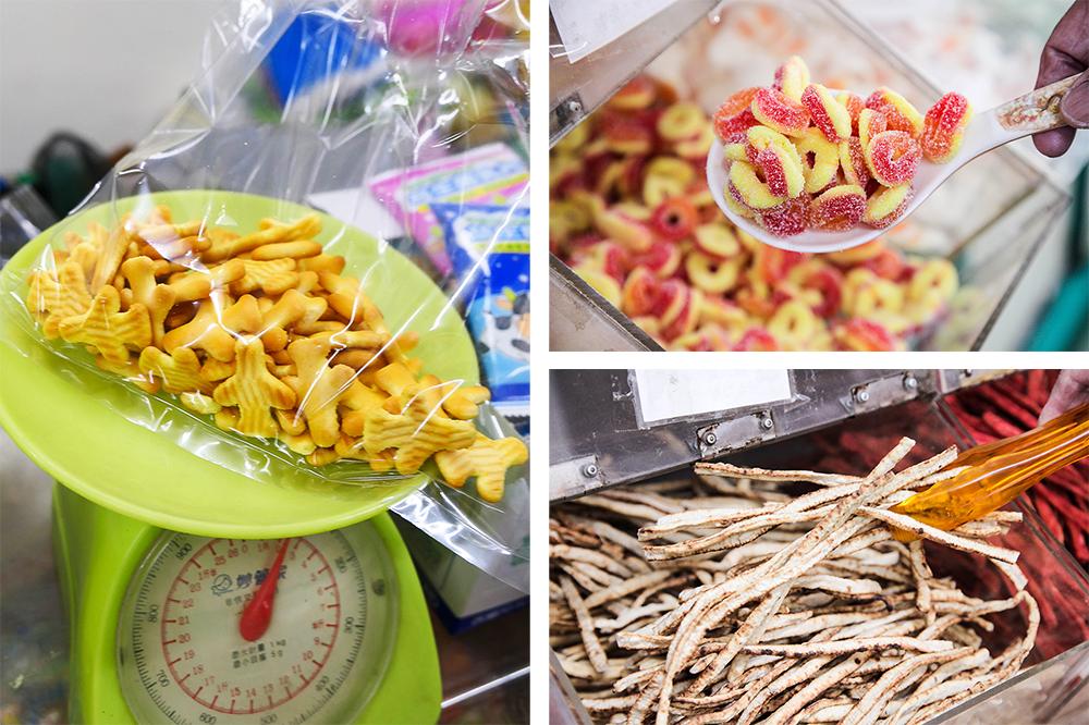 分裝零食可以自由挑選喜愛的口味,不用整包購買。(攝影/李瑰嫻)