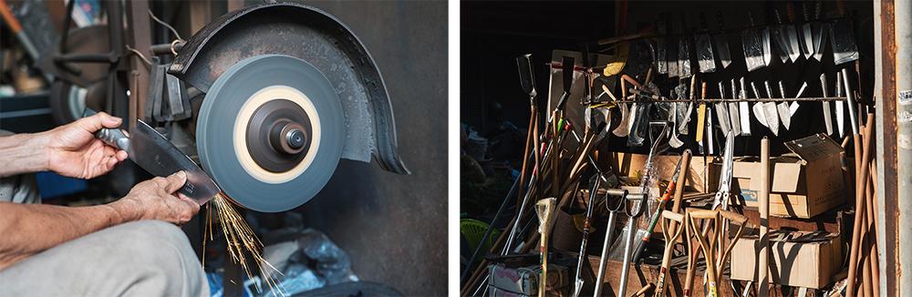 鳳山打鐵街全盛時期有13間打鐵店,目前僅剩2間營業,運氣好的話還可以看到店家起爐打鐵。(圖片提供/洪立)