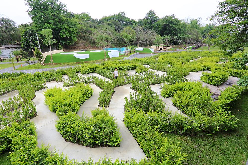 迷宮花園寓教於樂,希望能吸引更多親子家庭共同造訪澄清湖。(攝影/Carter)