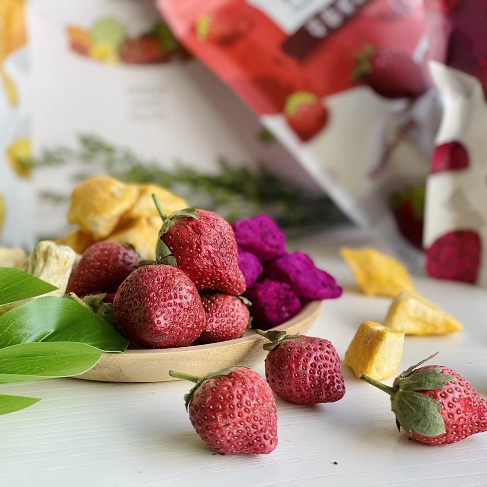 「好結果」果脆無糖、無人工添加,完整保留水果的營養、風味與色澤,可當作健康的零食。(圖片提供/一鳴生技農園「好結果」)