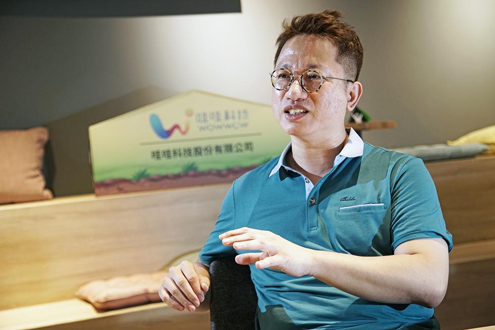 戴丞峰說,選擇回來高雄是因為這裡是全臺最大體感生態圈,能與國際市場對接,才能有國家隊打群體戰。(攝影/曾信耀)
