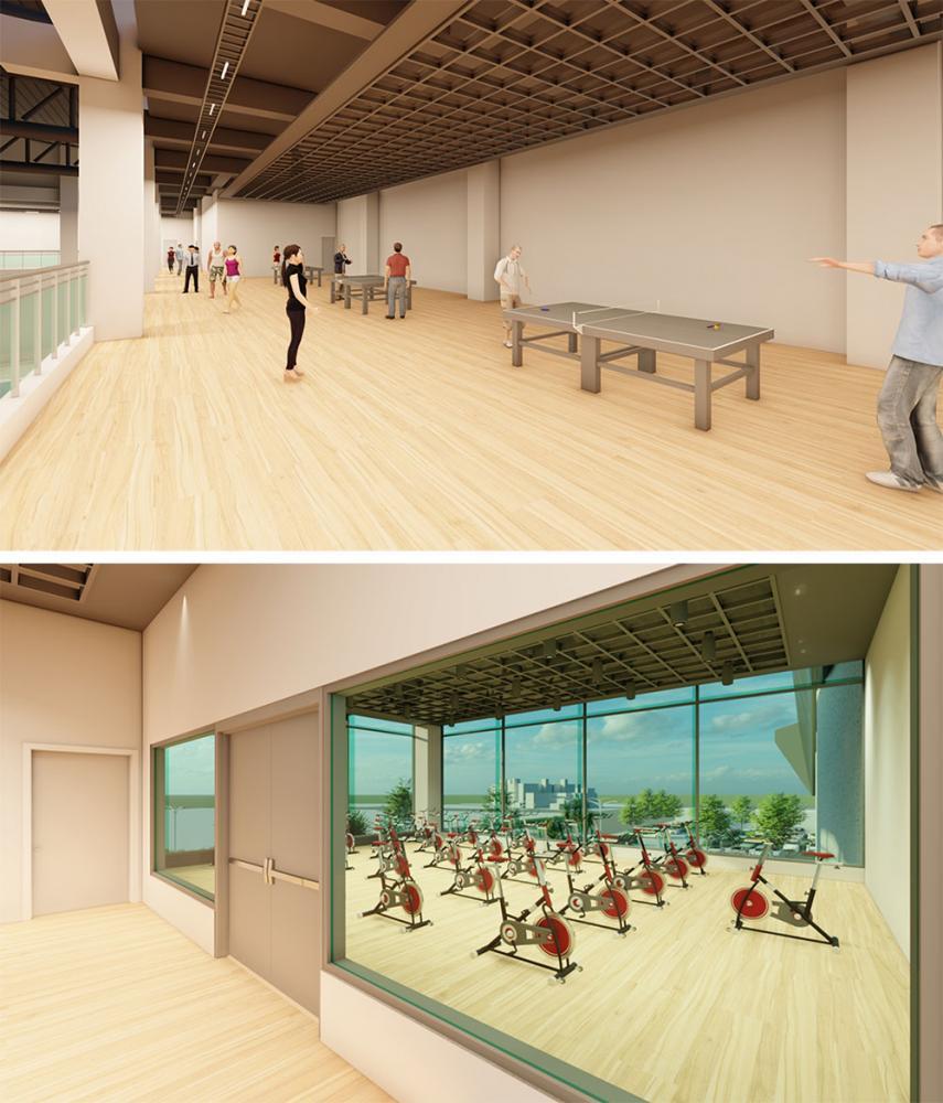 楠仔坑運動中心泳池、綜合球場及全齡體能訓練場等規劃,能滿足民眾運動需求。(圖片提供/高雄市政府運發局)