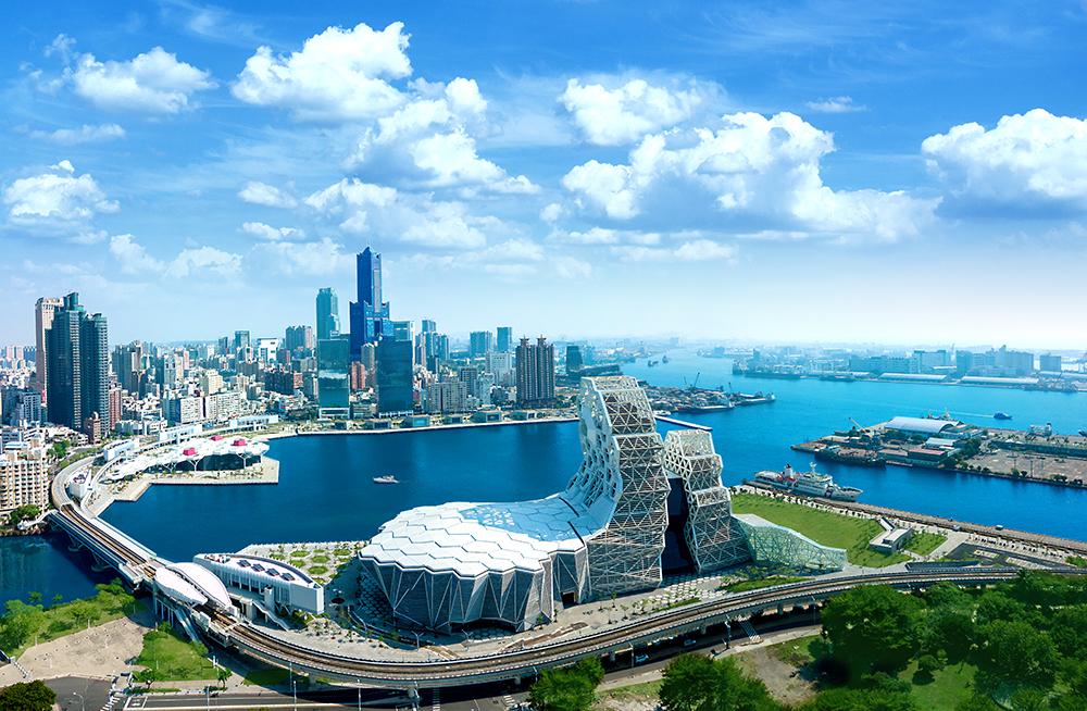 高流中心共分「音浪塔」、「珊瑚礁群」、「鯨魚堤岸」、「海豚步道」、「海音館」5大區塊。(圖片提供/高雄市政府文化局)