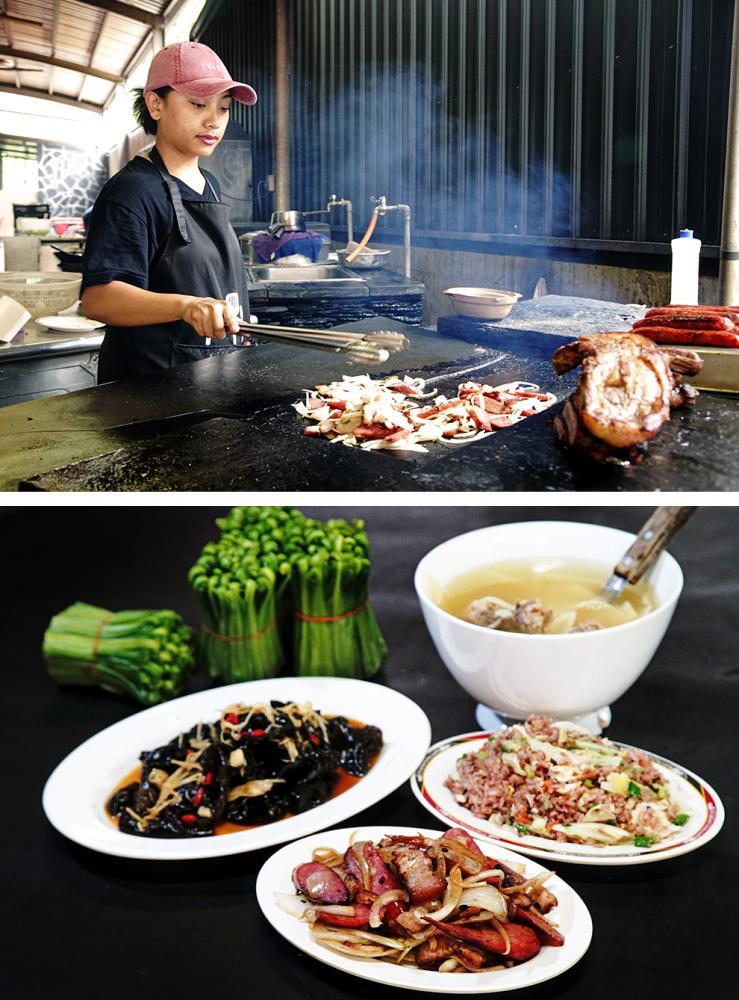 石板烤肉是原鄉美食之一。